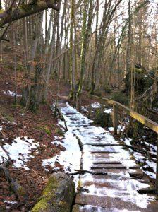 Isartrails mit Schnee