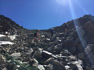 Aufstieg vom Mittelberglesee auf den Kamm