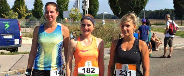 Die drei ersten Damen beim Kissinger Halbmarathon.