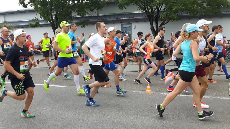 Start beim Kissinger Halbmarathon