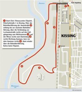 Die Strecke des Kissinger Halbmarathons.
