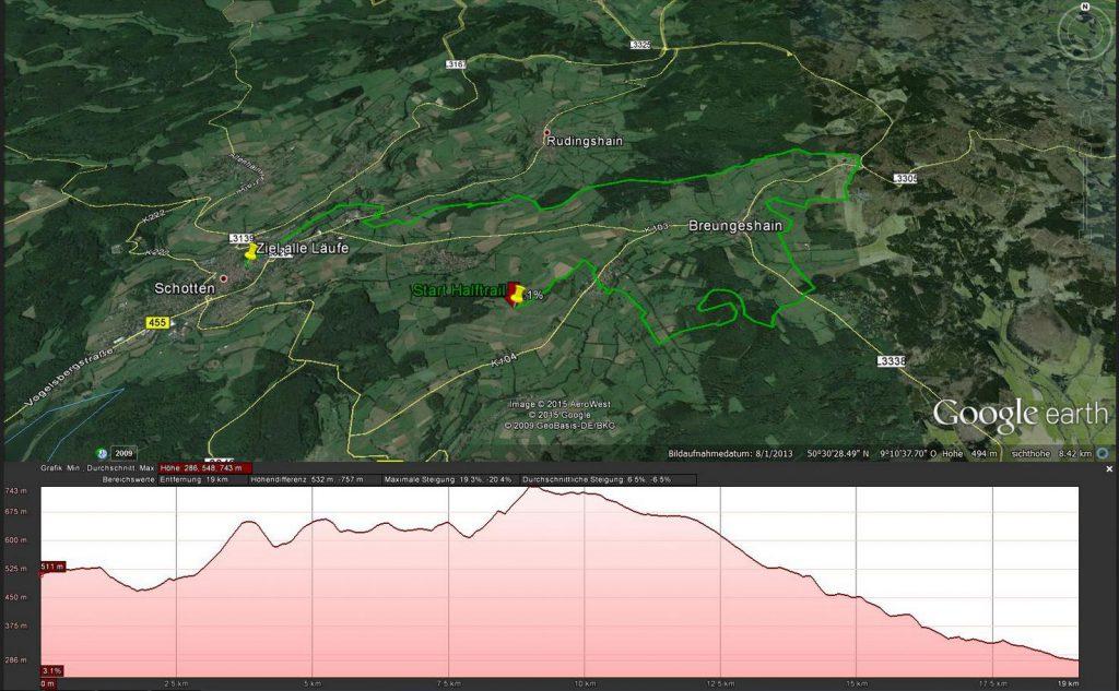 Vogelsberg Vulkan Trail, Halftrail