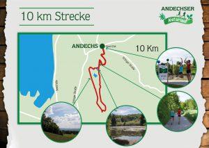 9,5-km-Strecke des Andechser Naturlaufs