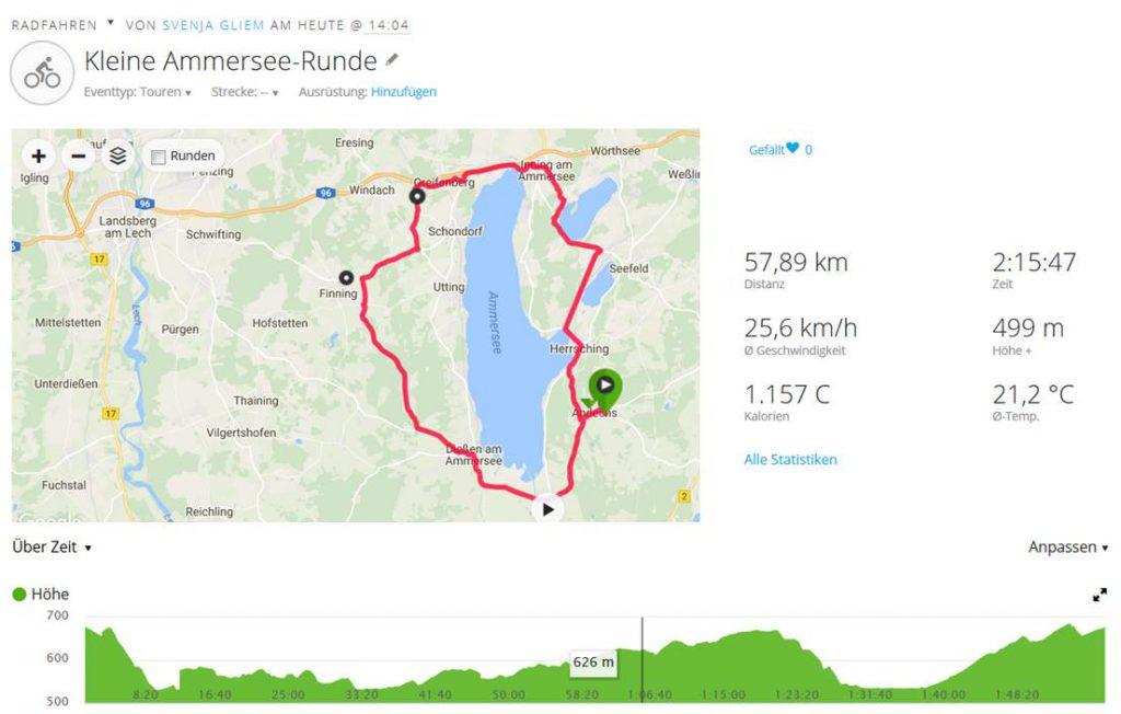 Kleiner Ammersee-Rennradrunde