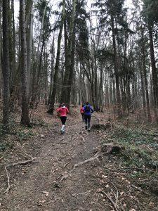 Fast finaler Anstieg des Andechs Expert Trails