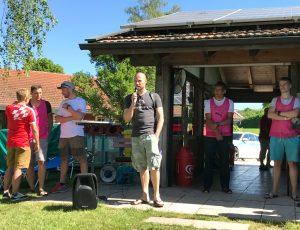 Beginn des Trainingstages für den Chiemsee Triathlon