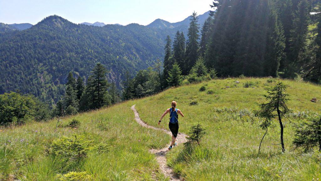 Trailrunning Blauberge, Pfad bergab