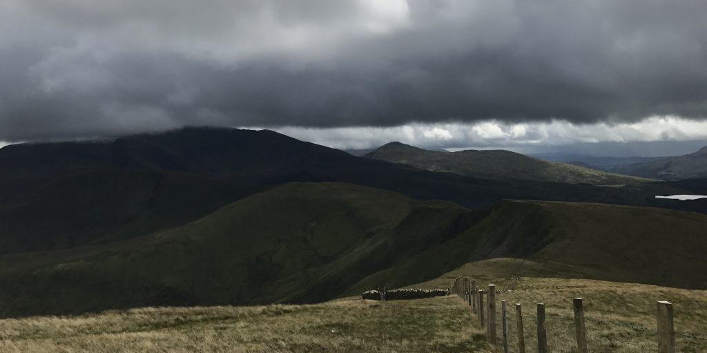 Snowdon in den Wolken