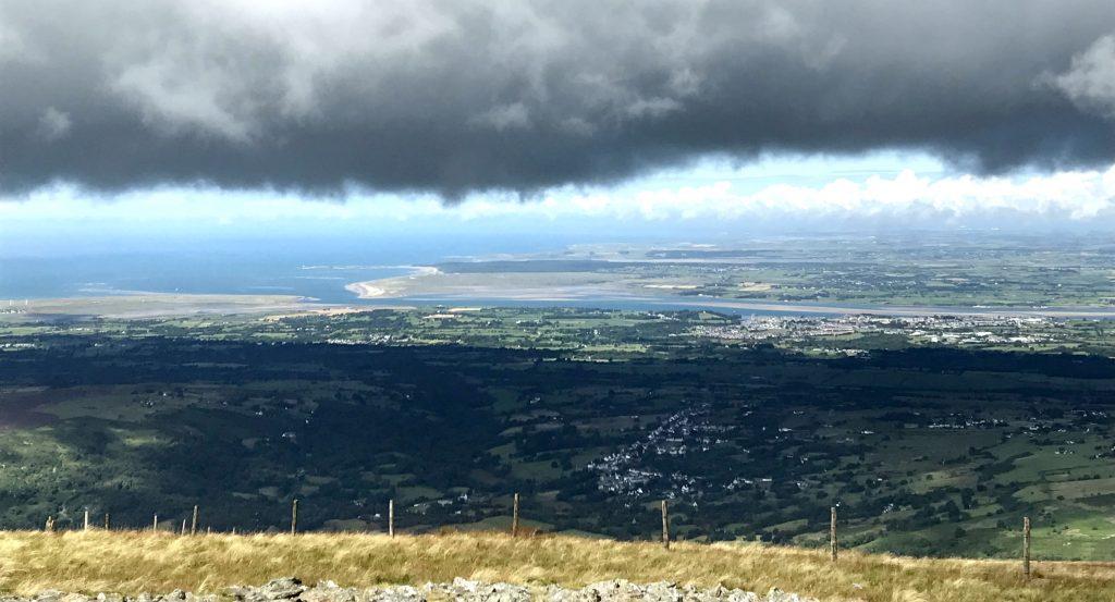 Moel Eilio: Blick auf Caernafon