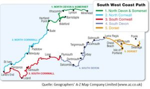 South West Coast Path: Map