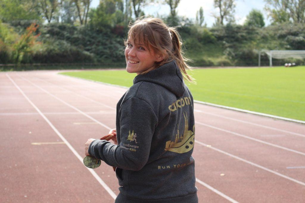 Ann-Kathrin beim Laufen