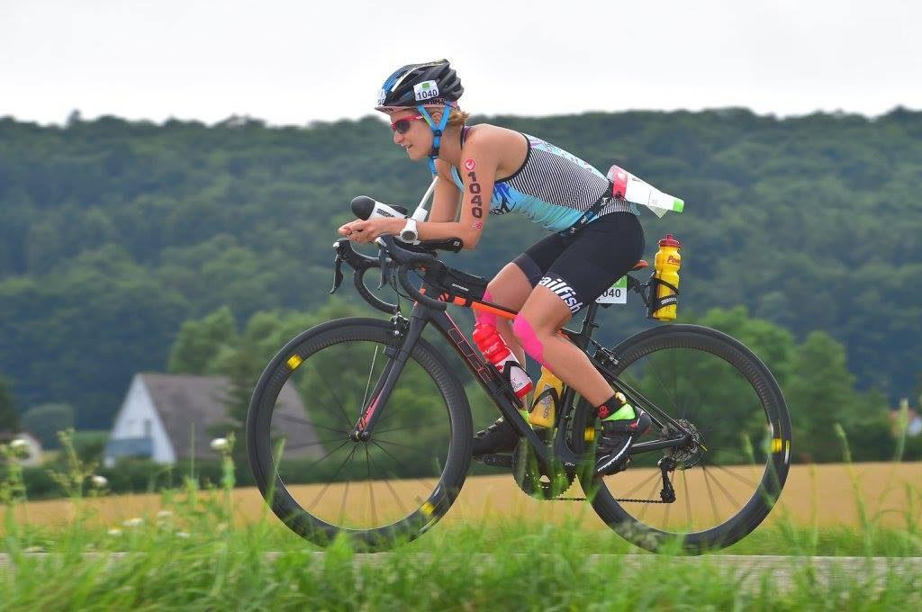 Hanna auf dem Rennrad