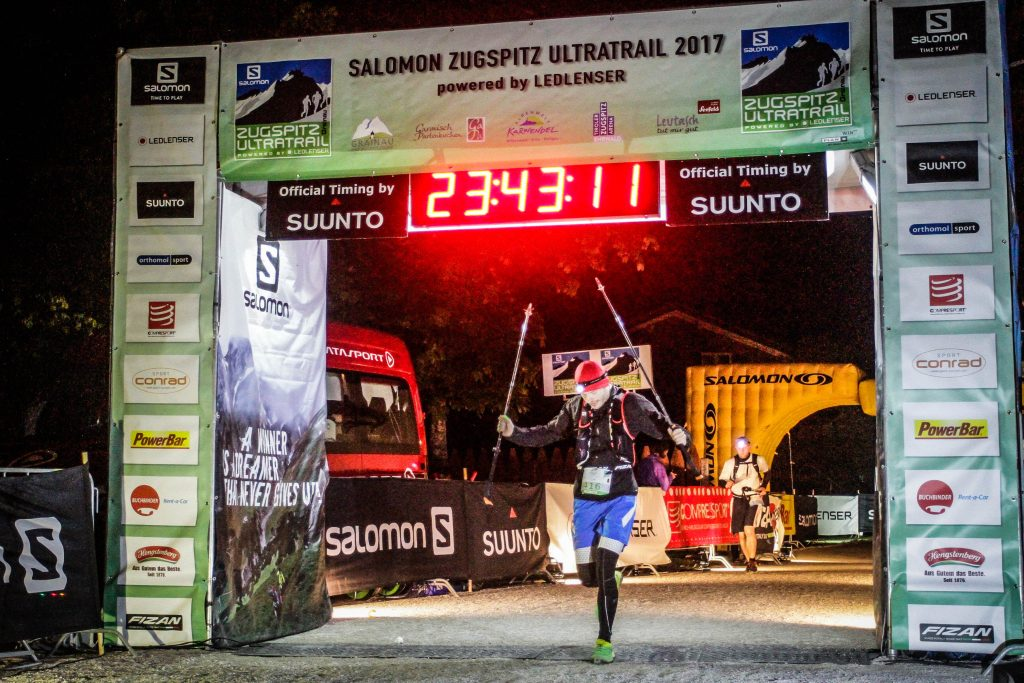 Finisher beim Zugspitz Ultratrail