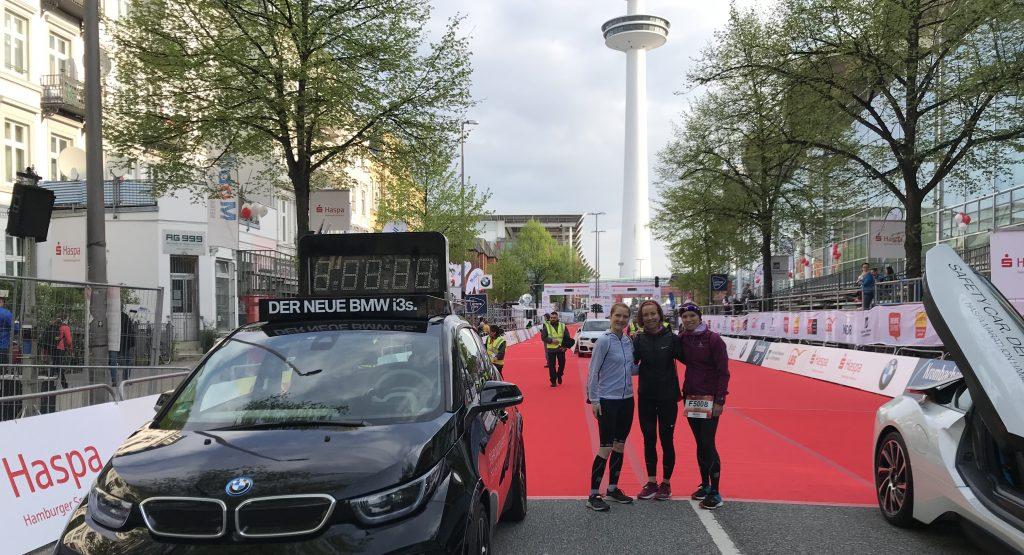 Vor dem Start des Hamburg Marathon 2018