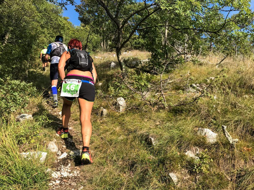 Aufstieg beim Ucka Trail