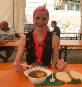 Finisher Lunch beim Ucka Trail