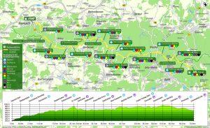 Strecke des Rennsteig-Supermarathons