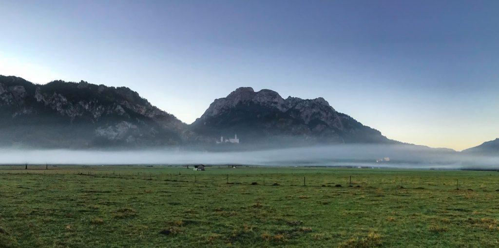 Schloss Neuschwanstein vor dem Start des Kini Trail