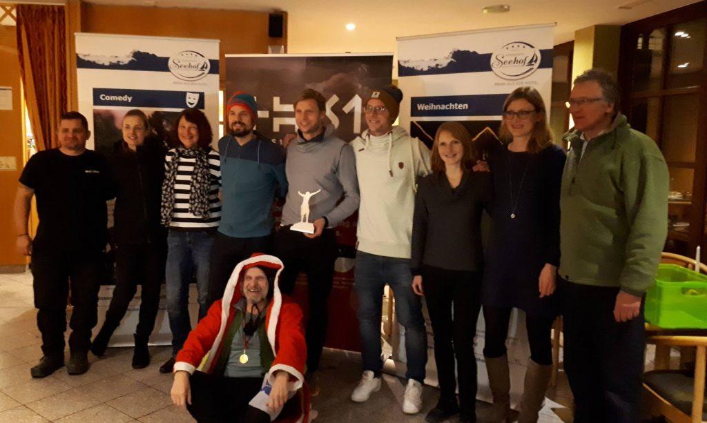 Siegerehrung beim Seenländer Ultra XMas Marathon