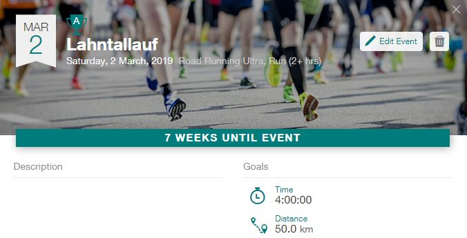 Lahntallauf: 7 weeks until event