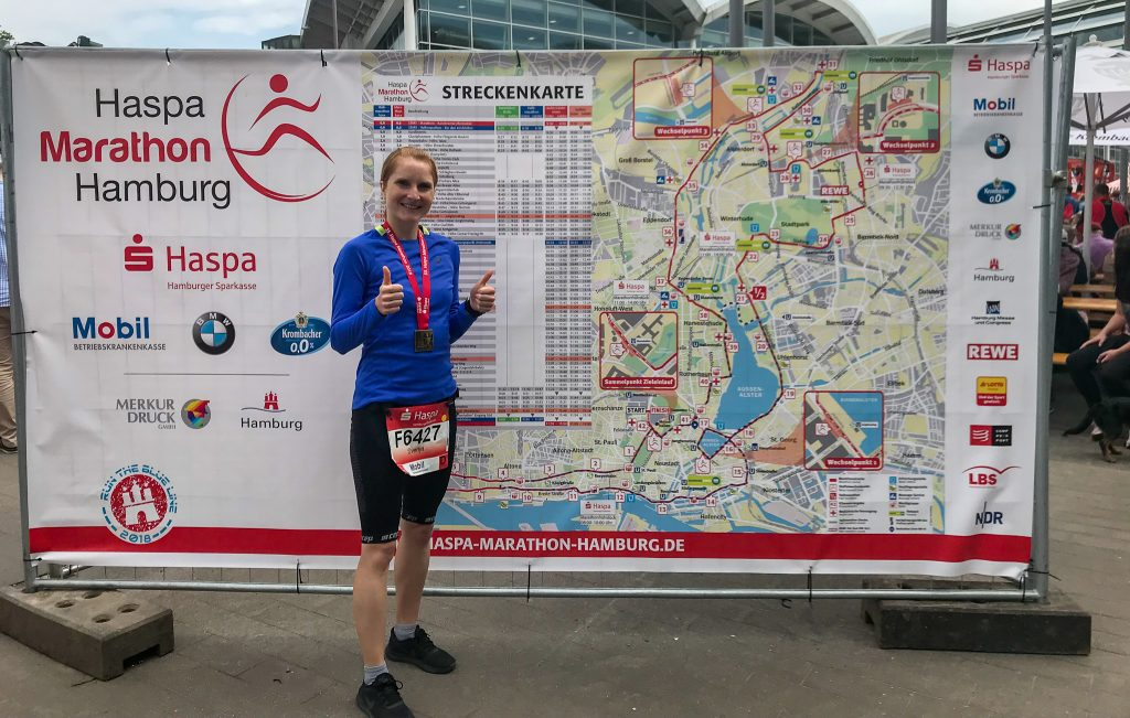 Hamburg Marathon 2018: Happy Finisher