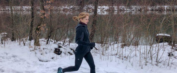 Laufen in Regen und Schnee