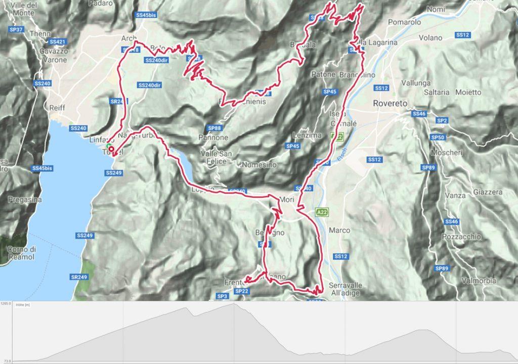 Rennradtour Monte Velo - Passo Bordala