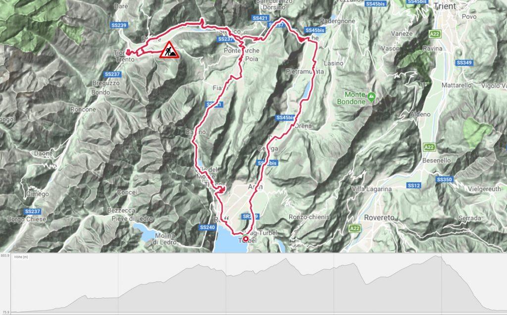 Rennradtour nach Tione di Trento