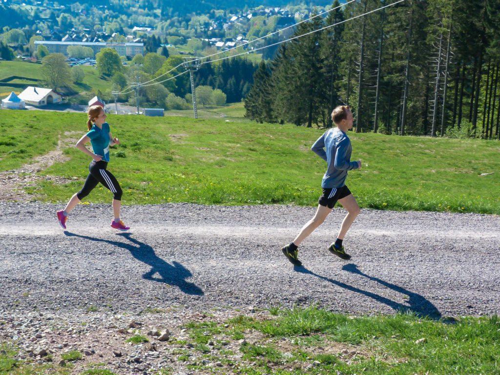 Rennsteiglauf Halbmarathon: Skihang