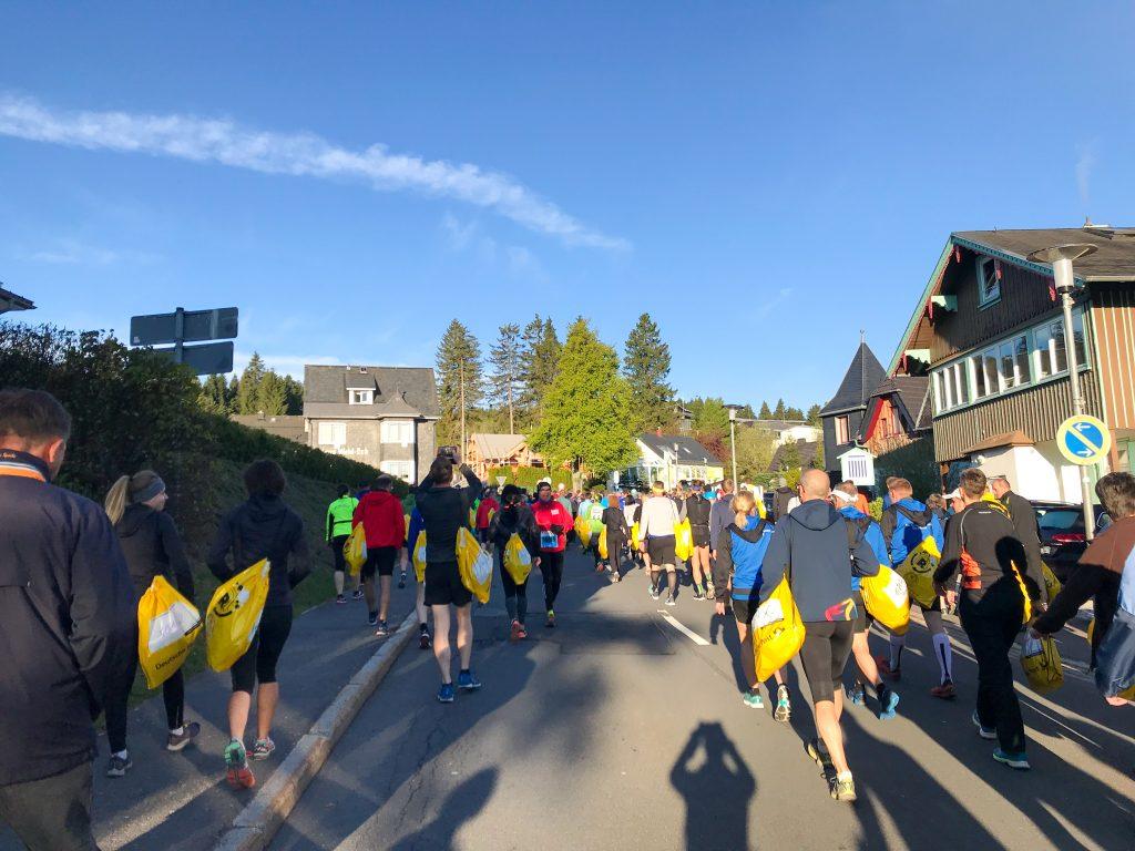 Rennsteig Halbmarathon: Vor dem Start
