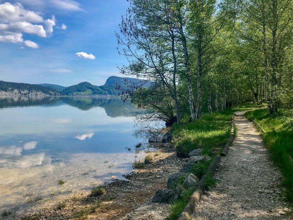 Fußweg am Lac de Joux