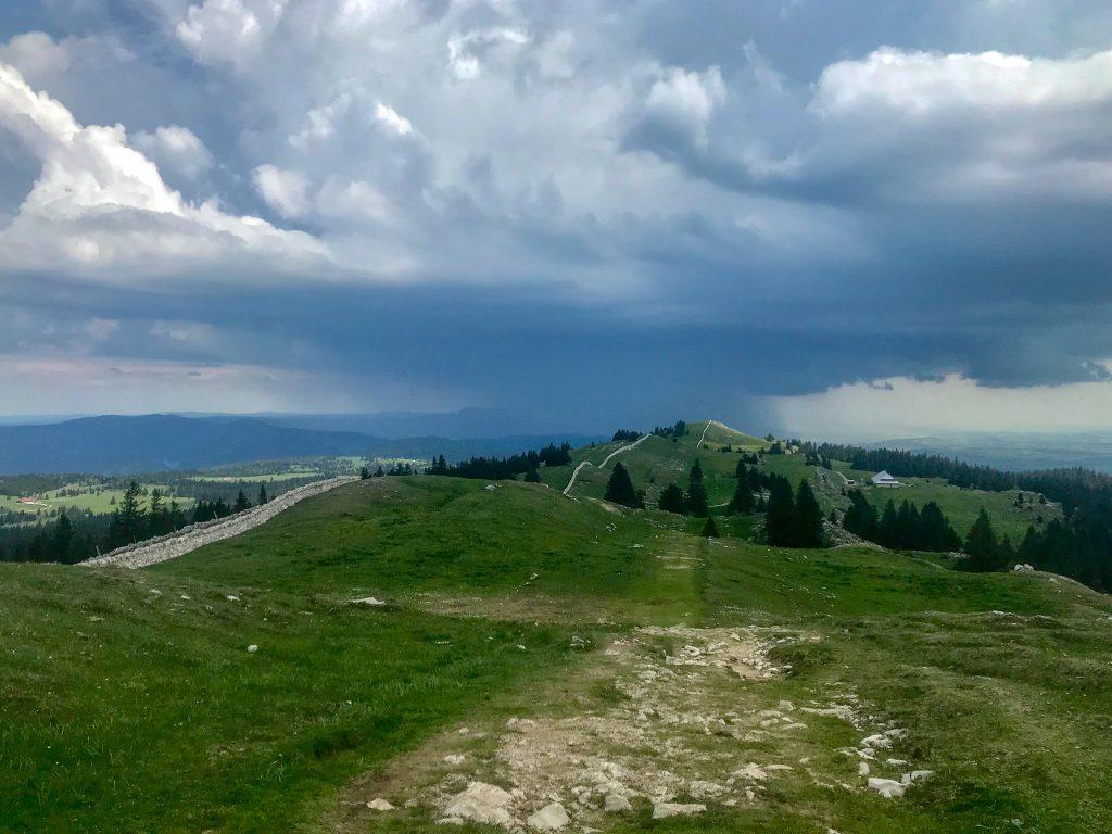Ausblick vom Mont Tendre