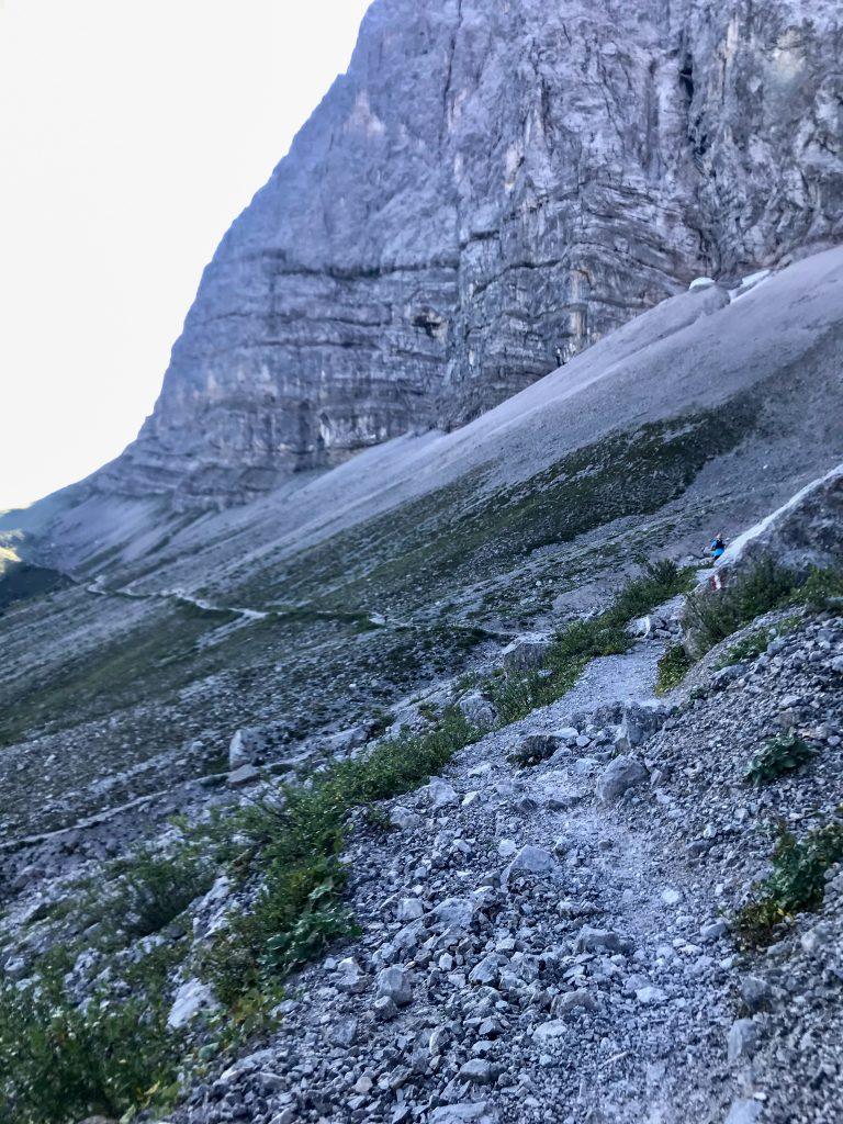 Bergtrail auf dem Karwendelmarsch