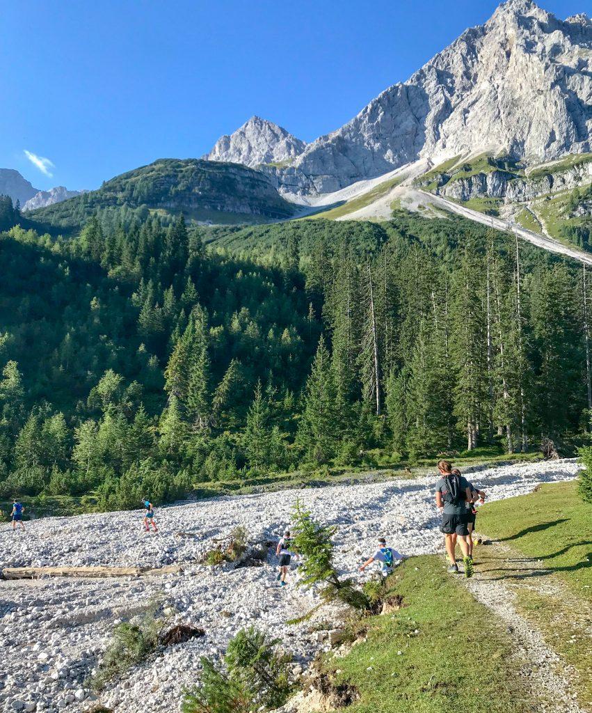 Geröllfeld auf dem Karwendelmarsch