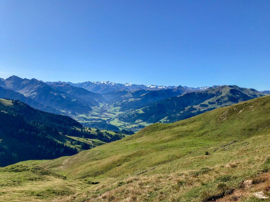 Aussicht Kitzbühler Alpen beim Gamstrail