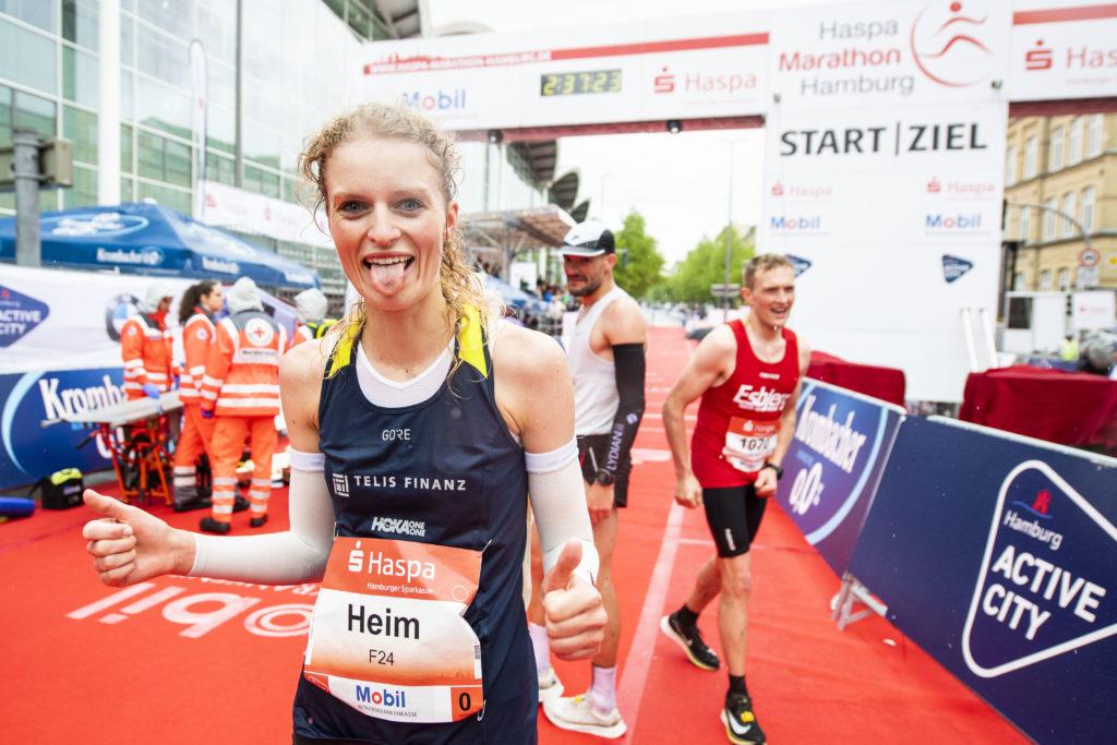 Thea Heim beim Haspamarathon Hamburg 2019