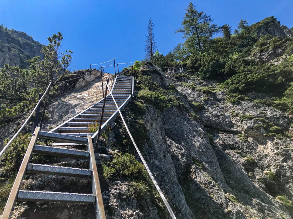 Leiterstieg auf dem Alpgartensteig