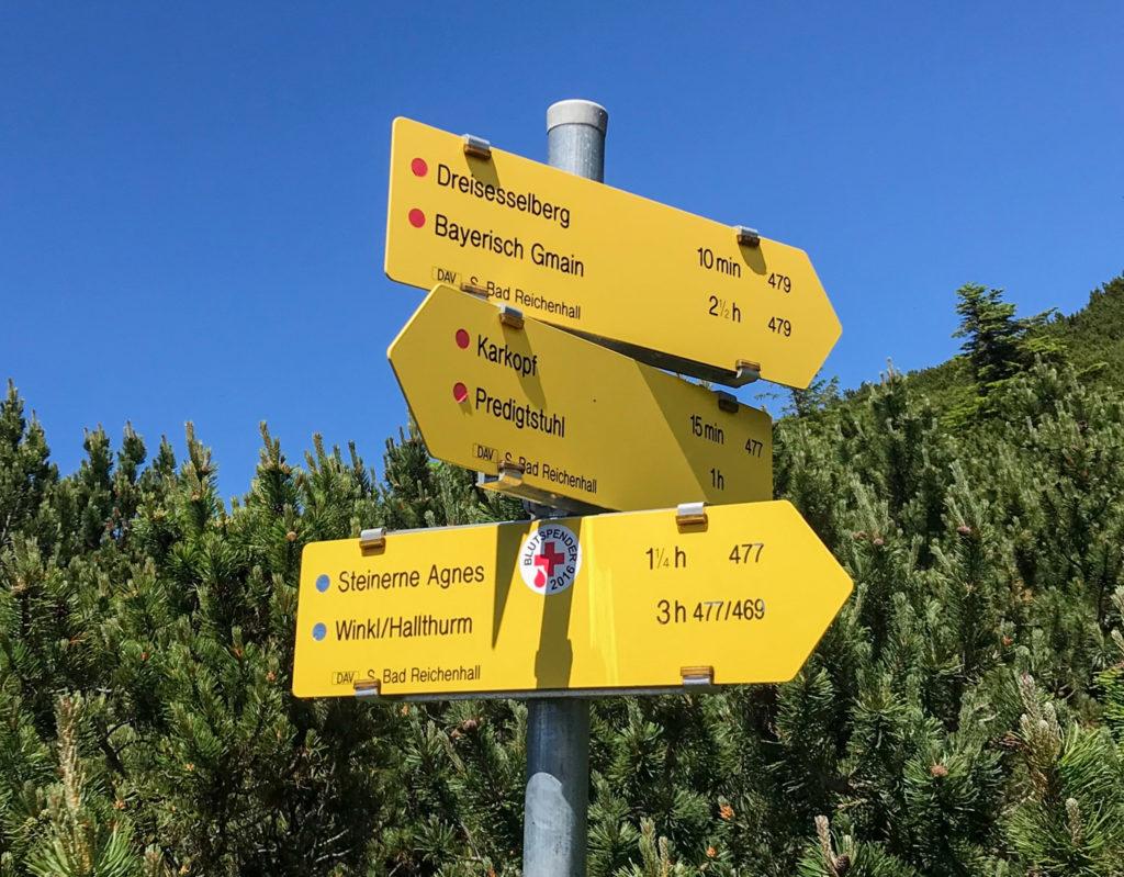 Dreisesselberg-Wegweiser