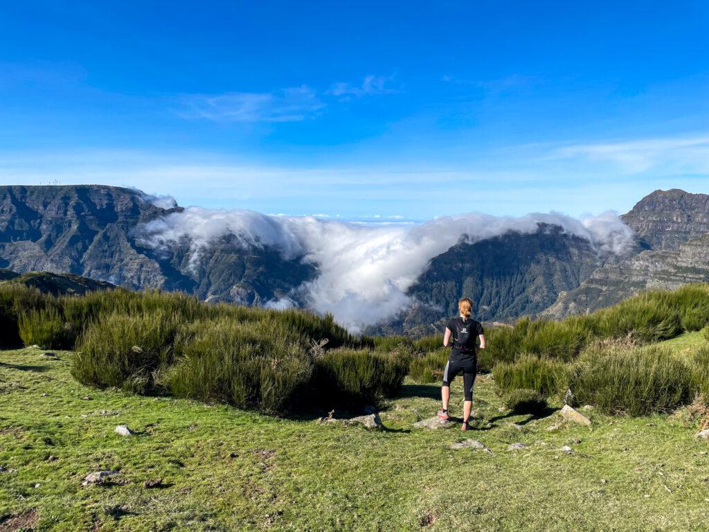 Bergaussicht auf Madeira