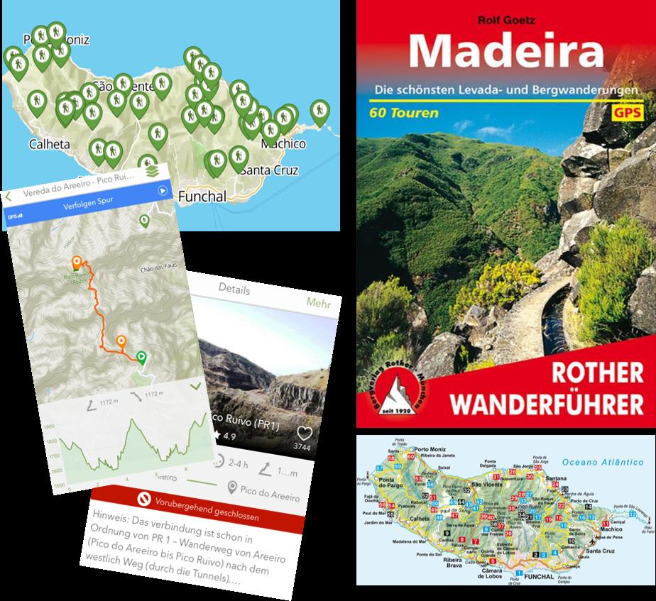 Laufstrecken auf Madeira