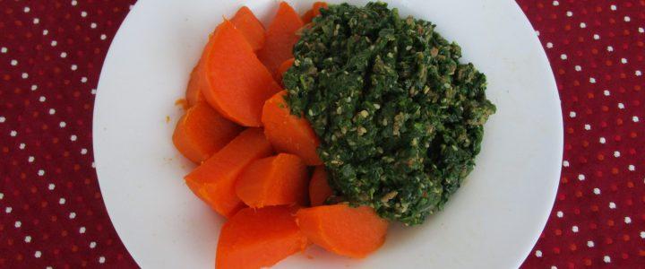 Spinat-Hackfleisch mit Süßkartoffel